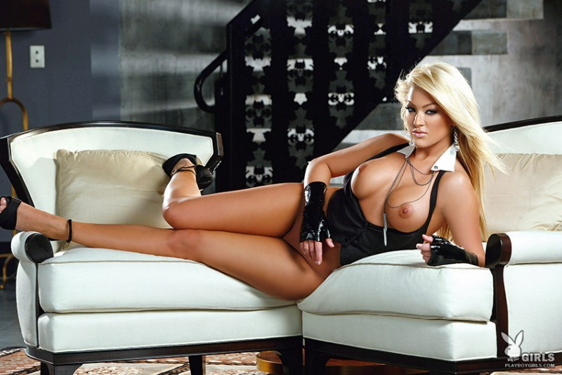 Markesa Yeager blonde high heels Markesa Yeager playboy
