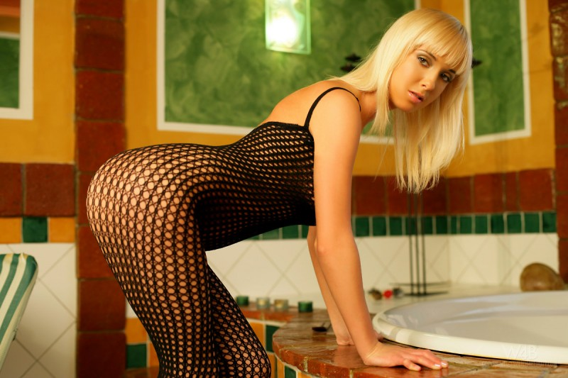 Emma in black bodystocking