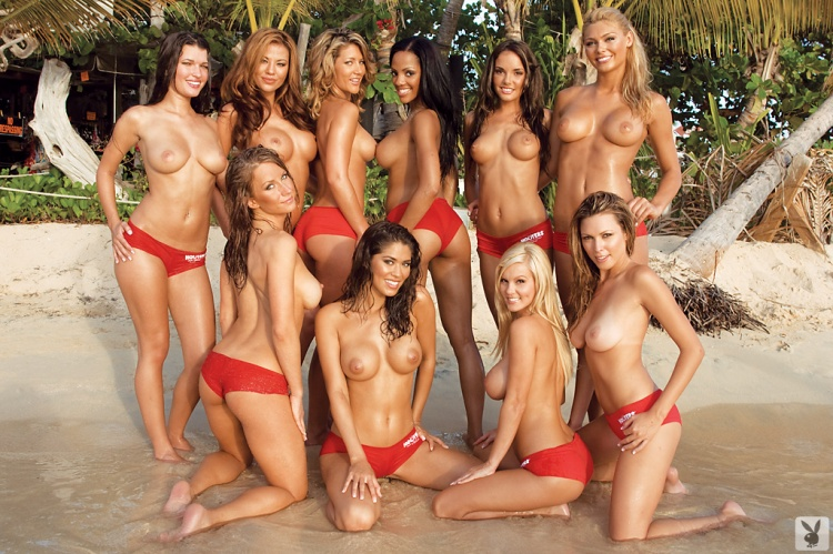 Playboy Women of Hooters 2008 hooters lots of girls playboy