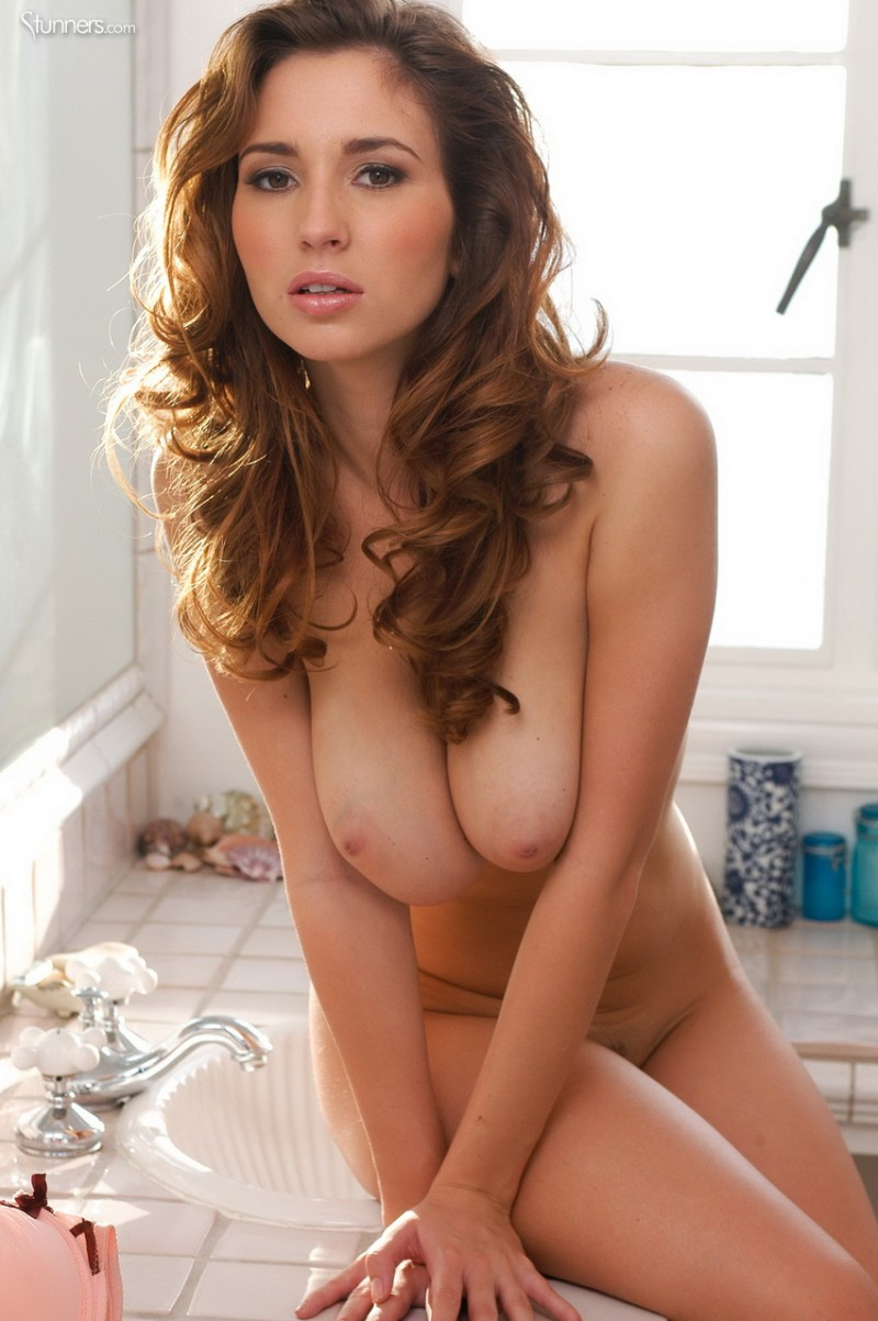 Shay Laren in bathroom bathroom big tits redhead Shay Laren