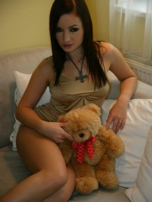 Jana Mrazkova loves her teddy bear