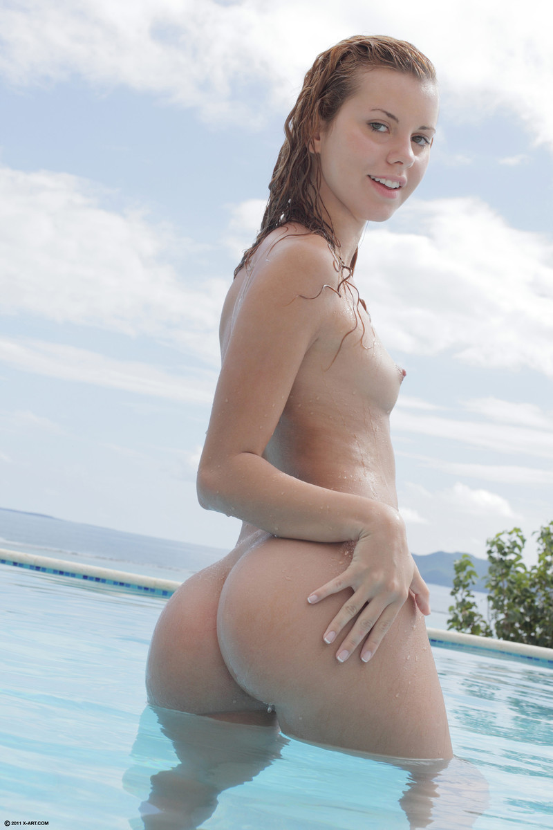 Jessie Rogers in the pool