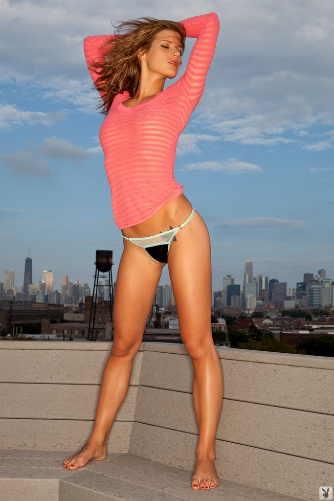 Lexi Ray on the roof