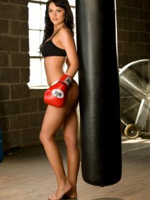Rainy Day Jordan - boxing girl