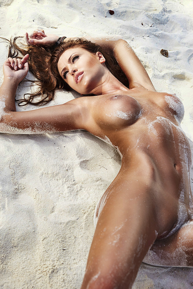 Monika Pietrasinska on the beach beach big tits Monika Pietrasinska redhead