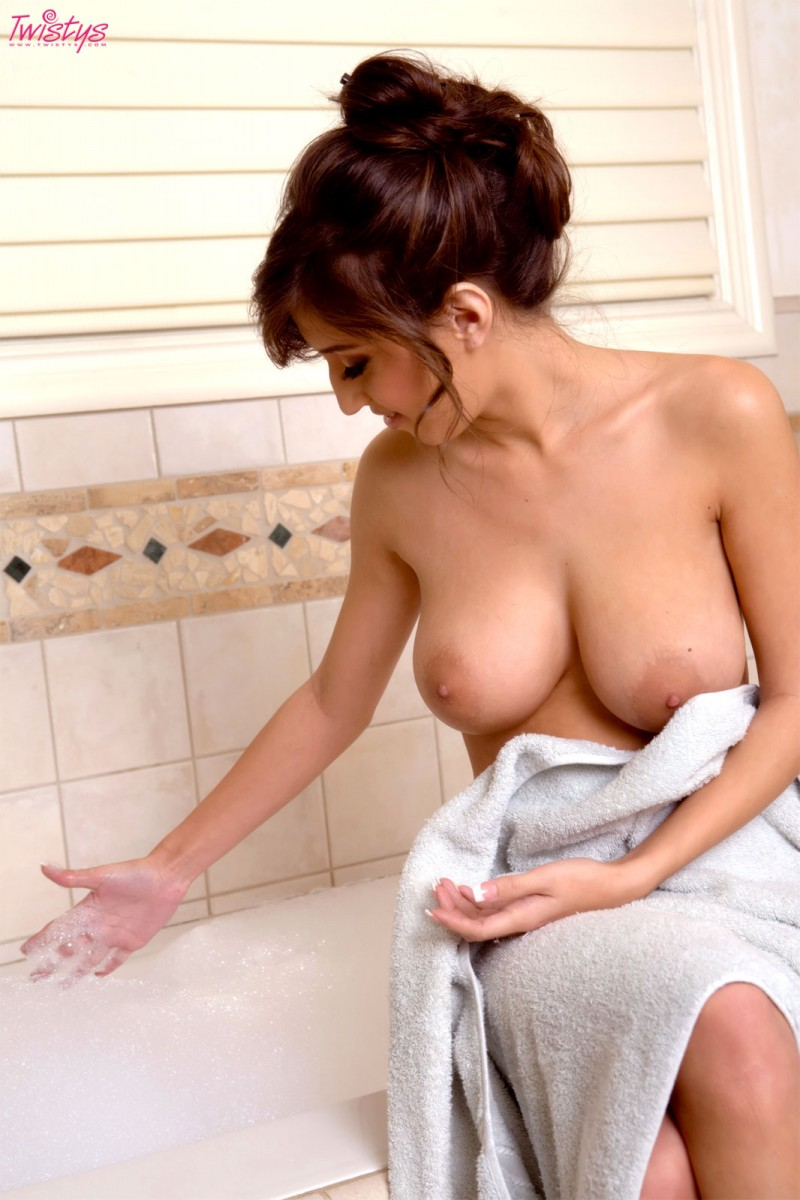 April O'Neal takes a bath