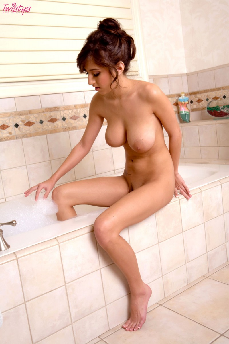 April O'Neal takes a bath April O'Neal bath big tits redhead