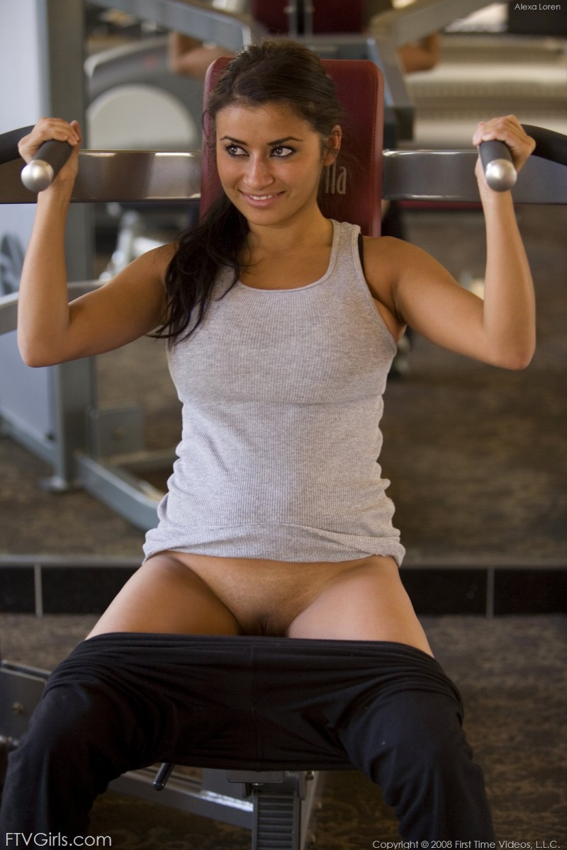 Alexa Loren at the gym Alexa Loren big tits gym workout