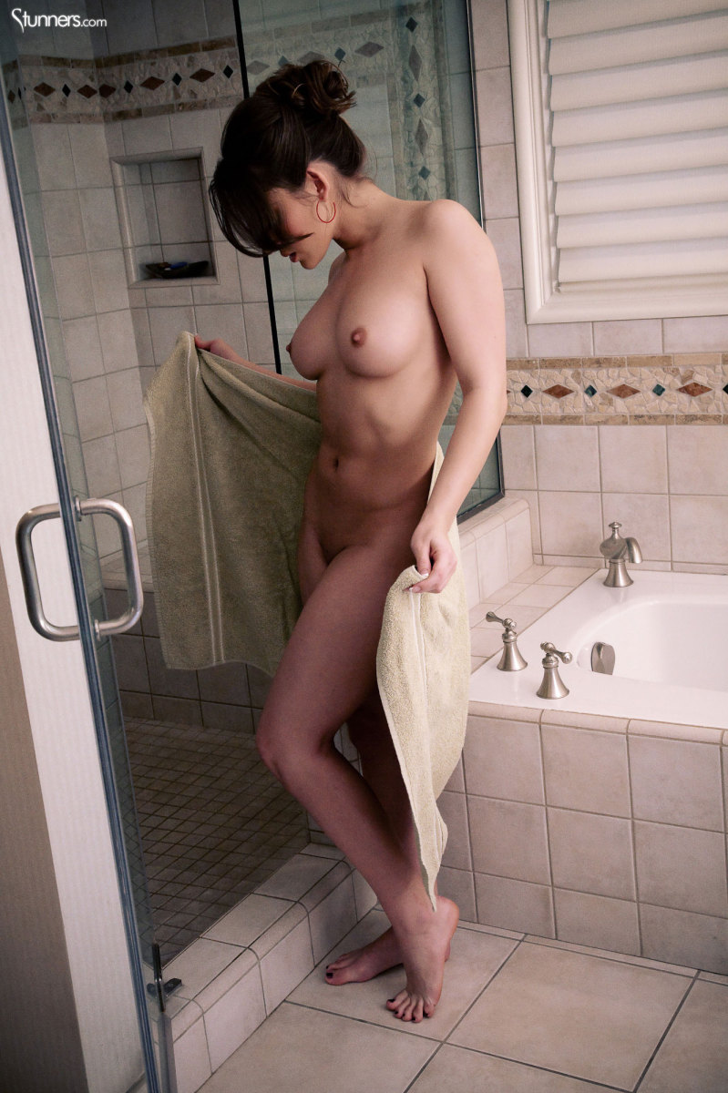 Dani Daniels in the shower