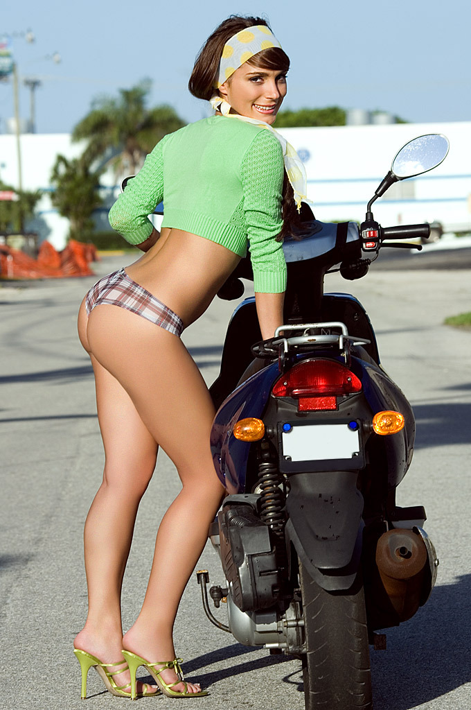 Jessica Erin Sylvia on the scooter