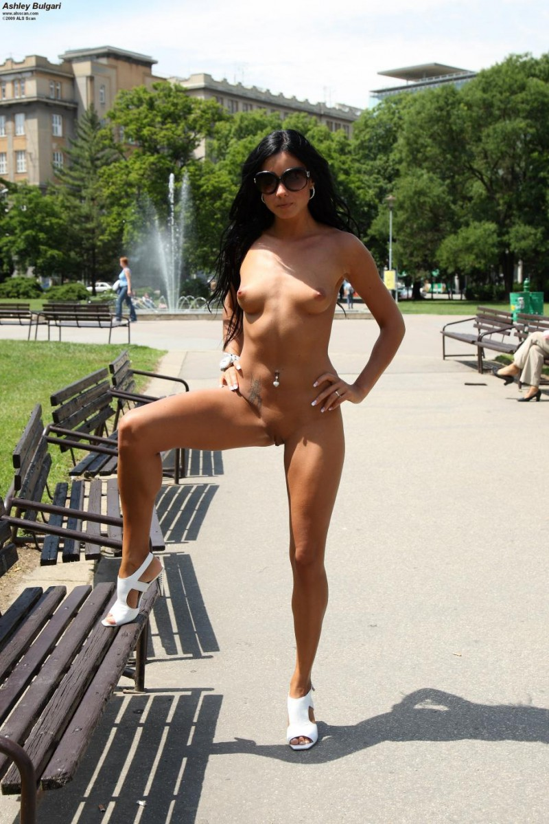 Ashley Bulgari nude in public Ashley Bulgari brunette nude public