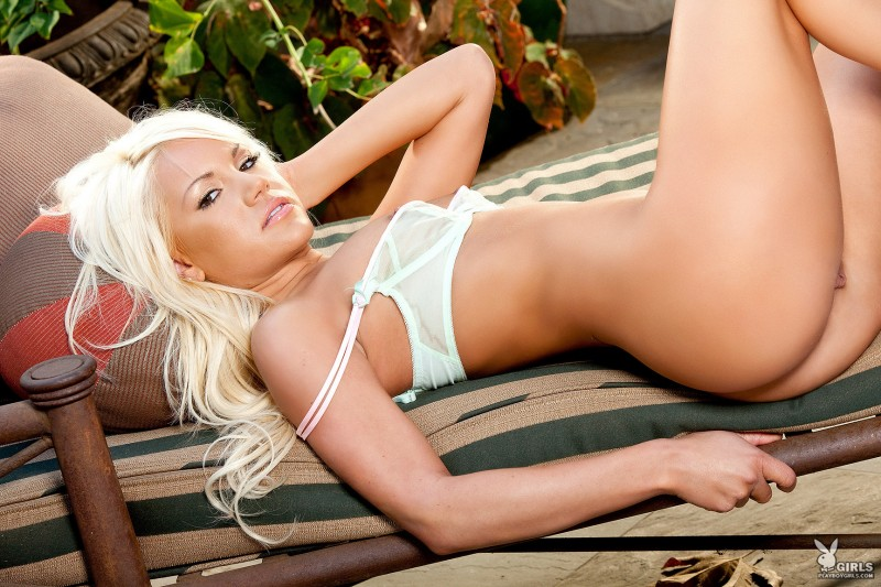Shanda Michelle in lingerie blonde lingerie playboy Shanda Michelle small tits tattoo