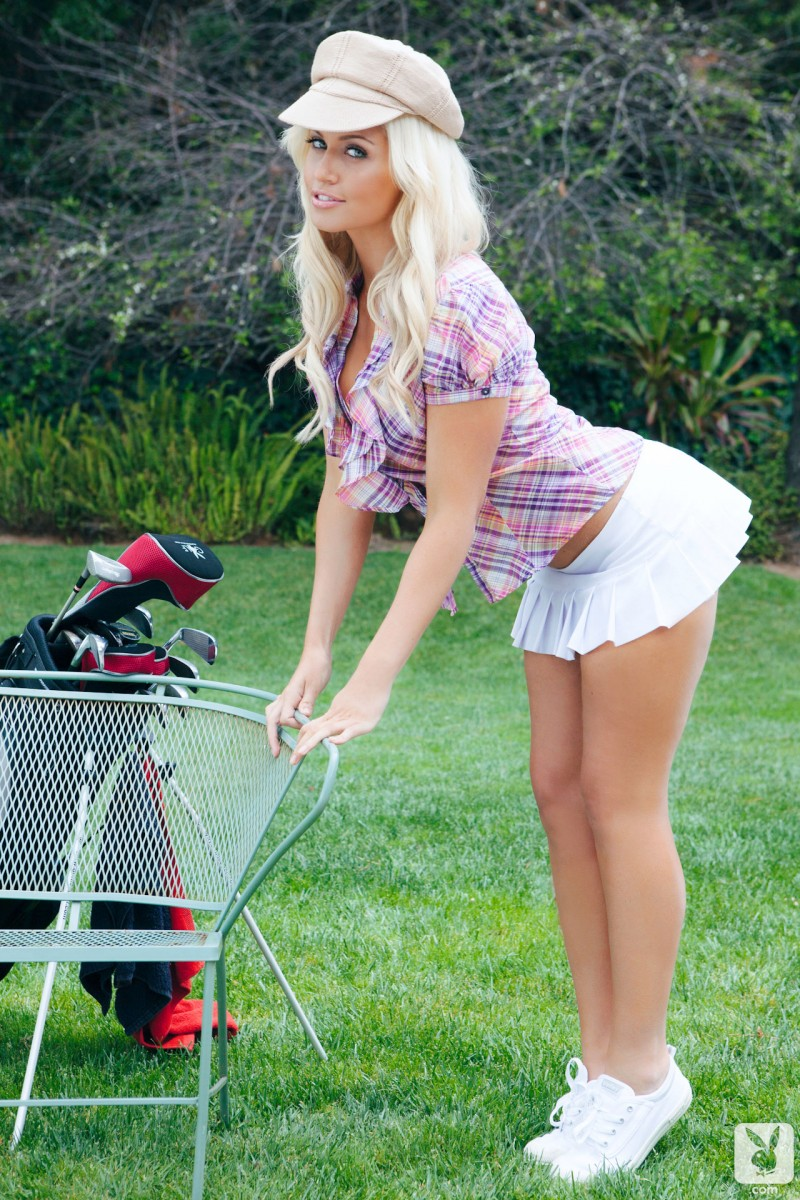 Levi Marie on the golf course