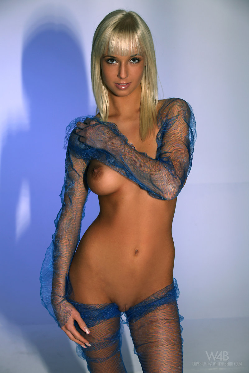 Emma in blue mesh