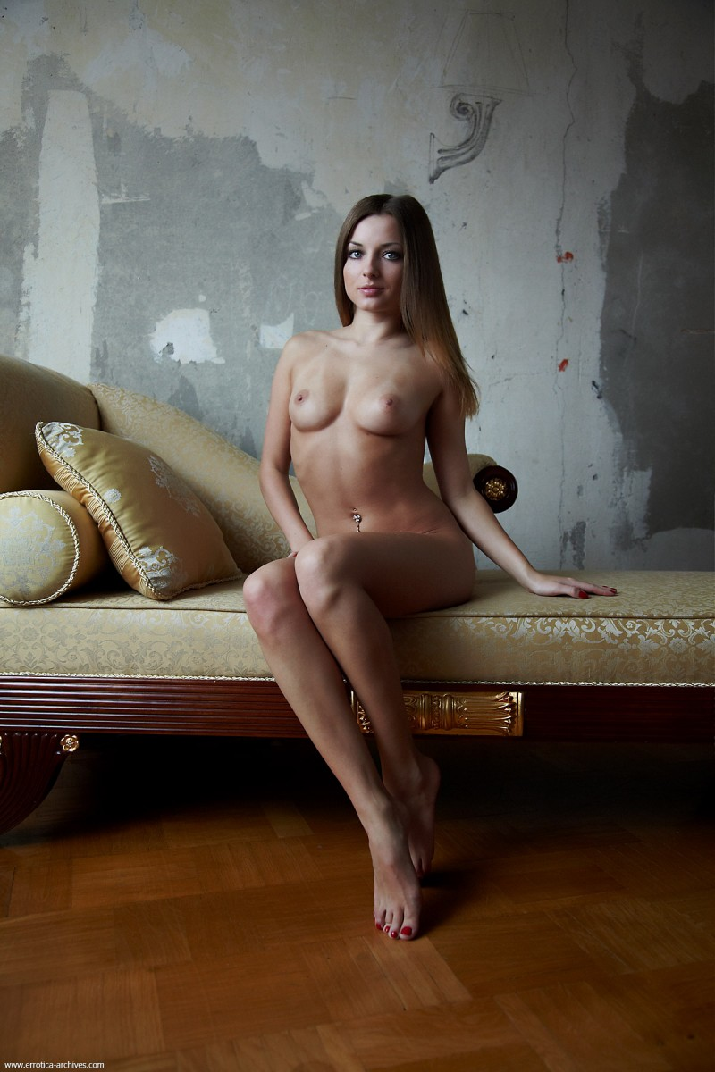 Giulia on the couch