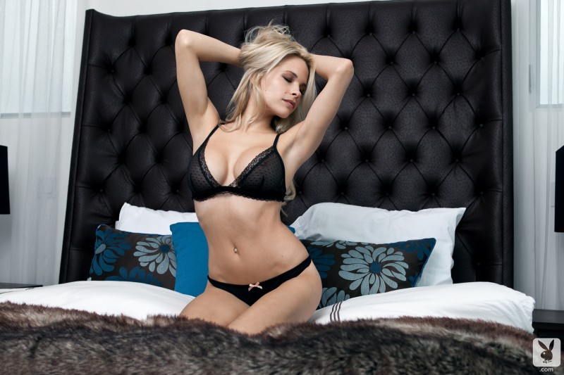 Dani Mathers in bed
