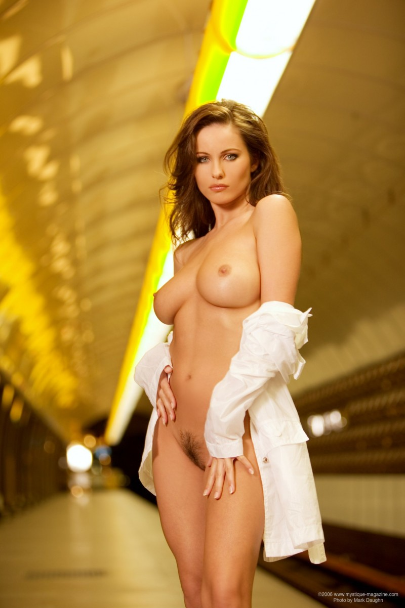 Kyla Cole in the subway