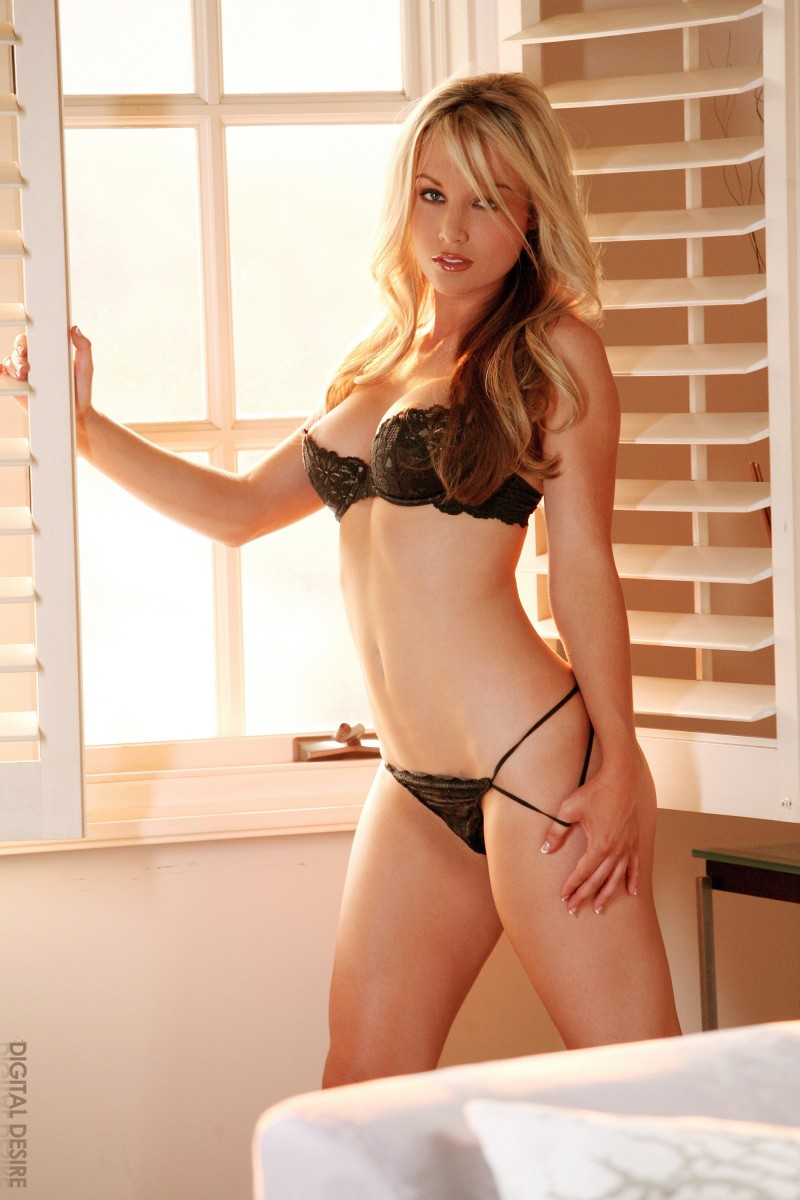 Kayden Kross in black lingerie