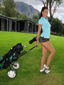 Melisa on the golf course