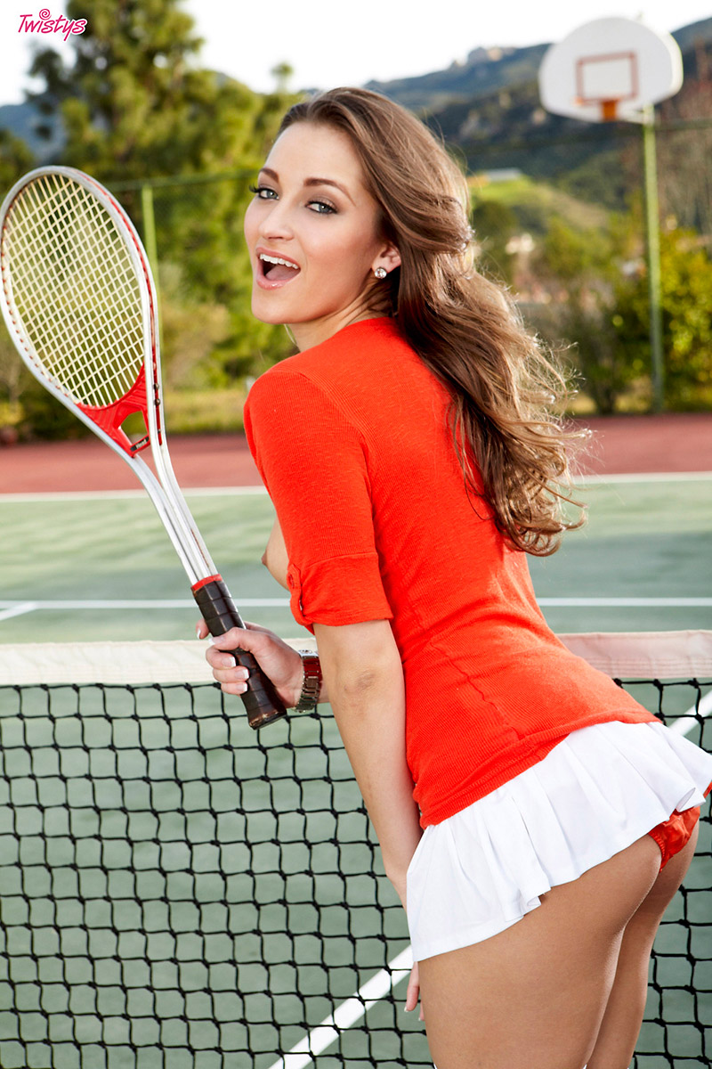 Dani Daniels playing tennis
