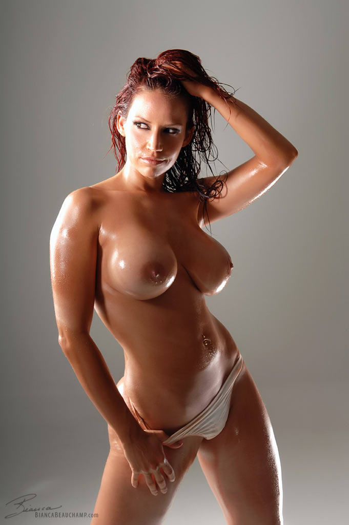 Bianca Beauchamp oiled body