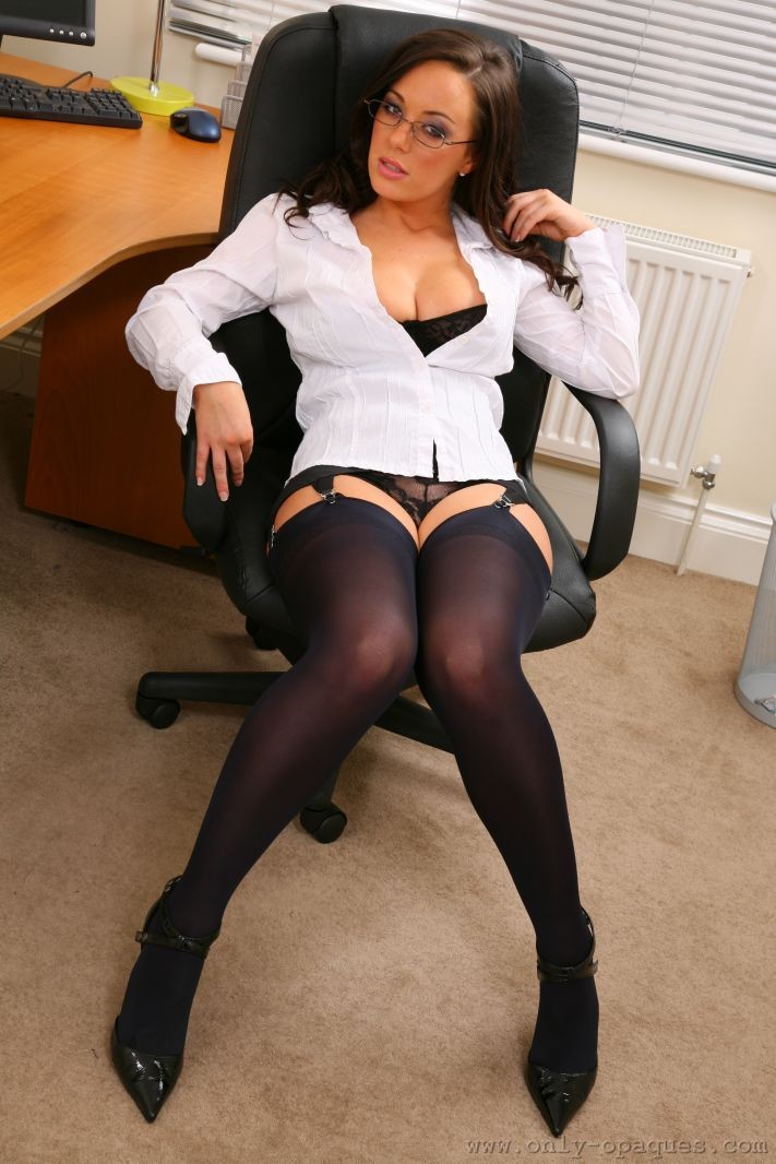 Lindsey Strutt in the office