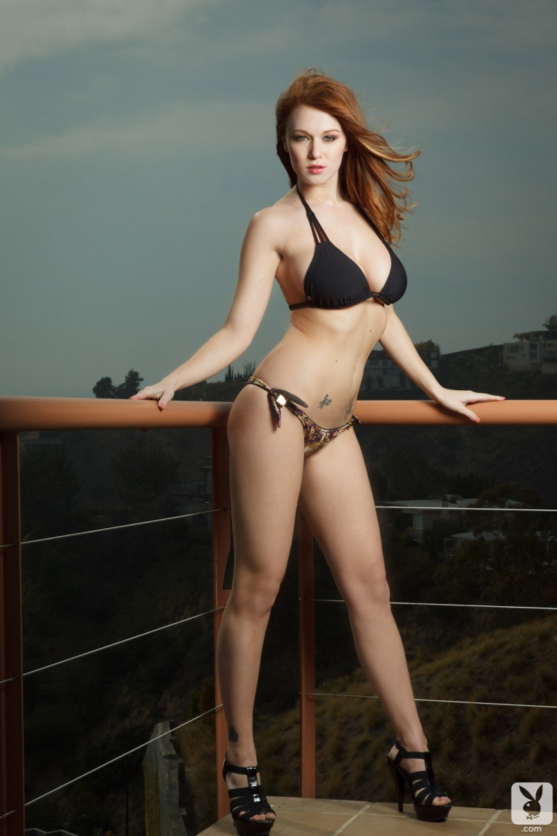 Leanna Decker on the balcony