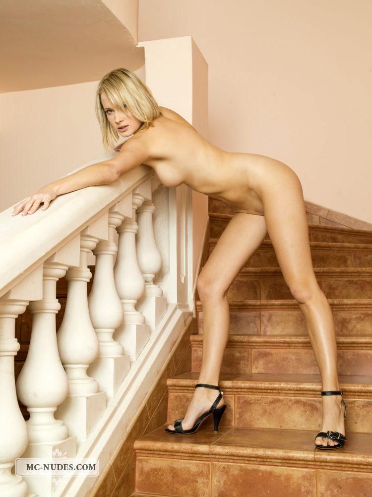 Denisa Markova on the stairs