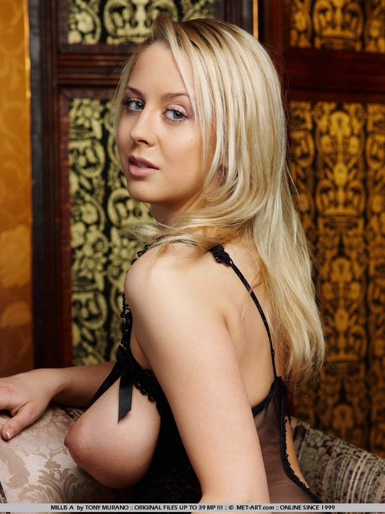 Mandy Dee in fancy bodysuit and stockings