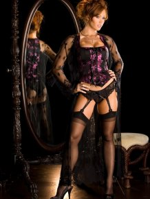 Christine Smith – Corset and black stockings