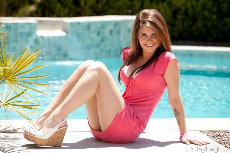 Hailey Leigh by the pool