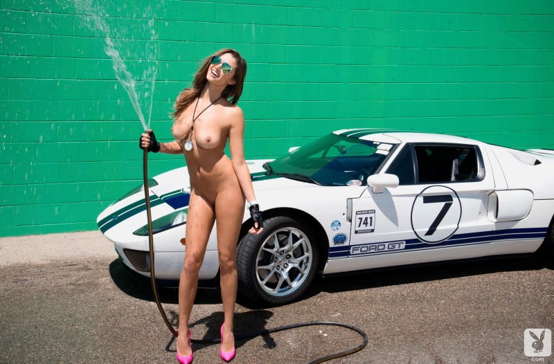 Alyssa Arce and Ford GT