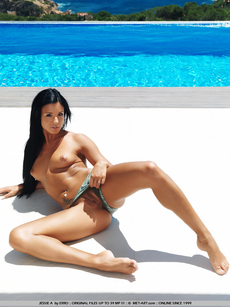 Ashley Bulgari by the pool