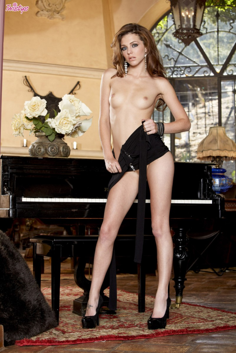 Kiera Winters at the piano