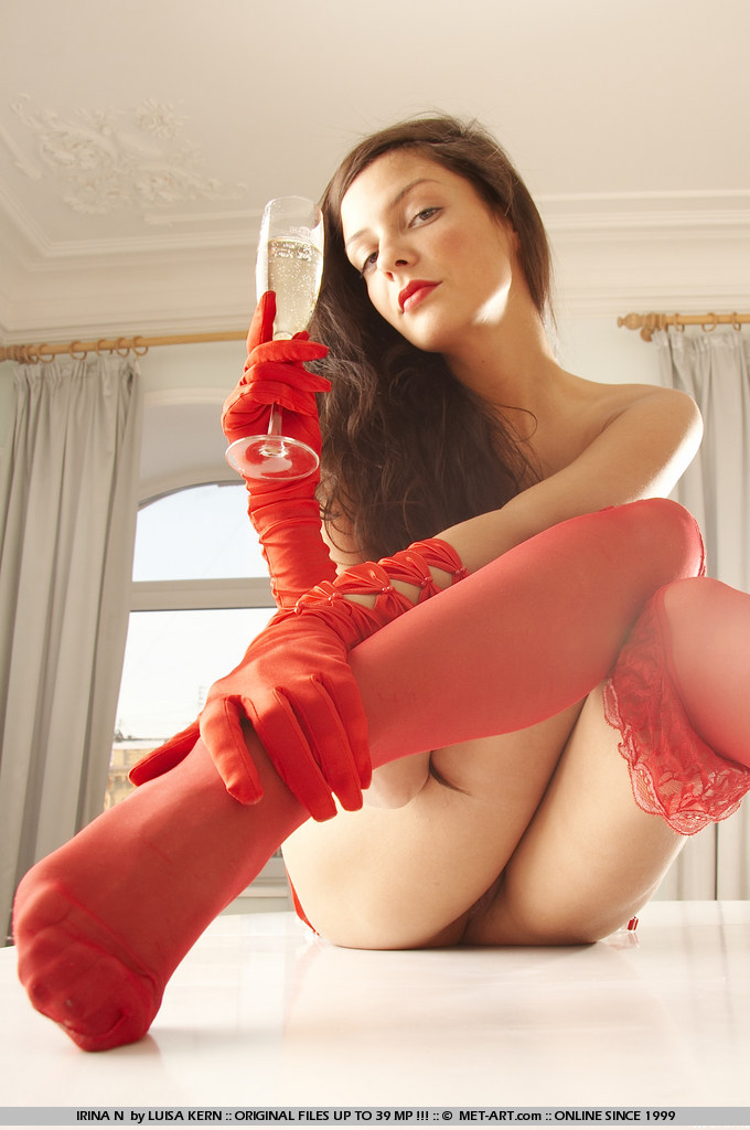 Cofi Milan in red stockings
