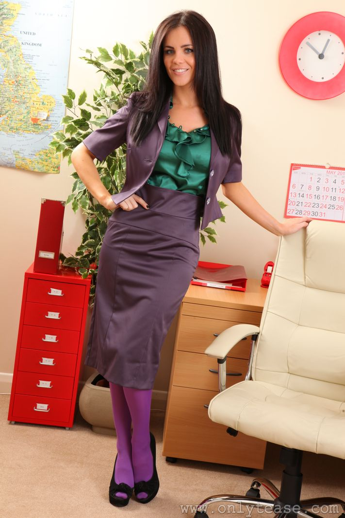 Emma Glover in the office