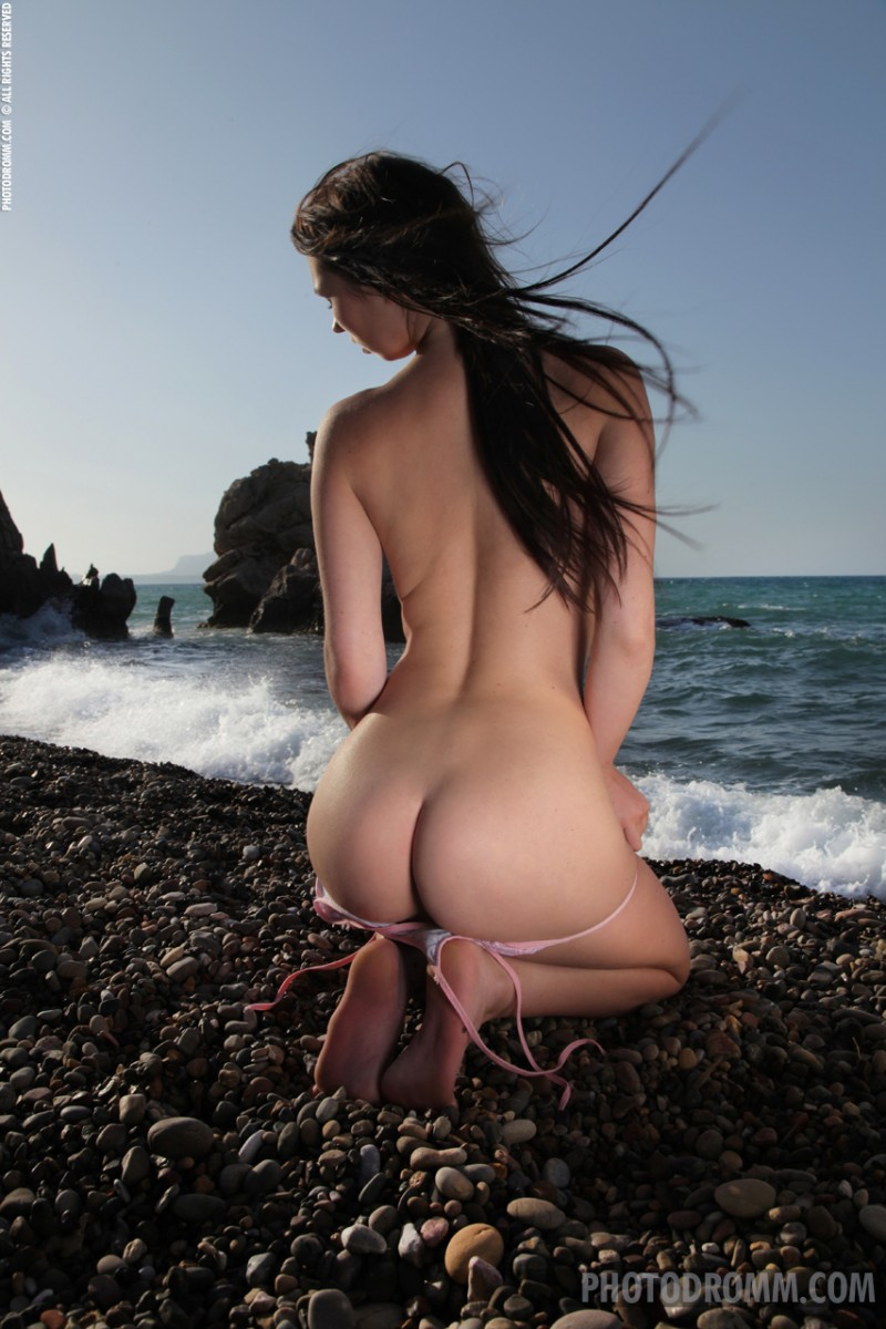 Antonia on the beach