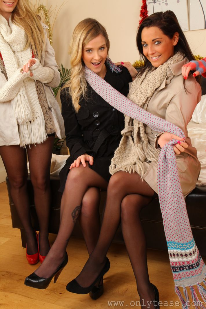 Six girls in stockings