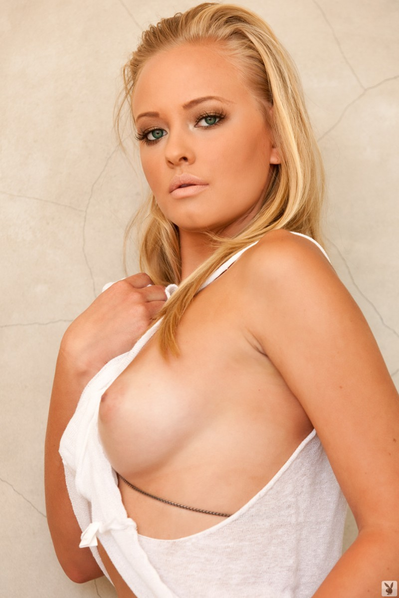 Ashley Hobbs – Loose white shirt