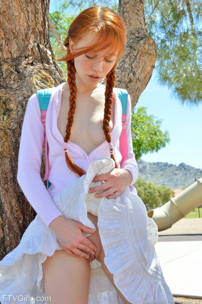 Dolly Little – Playground dolly little ftv girls pigtails redhead swing teen young Young girls
