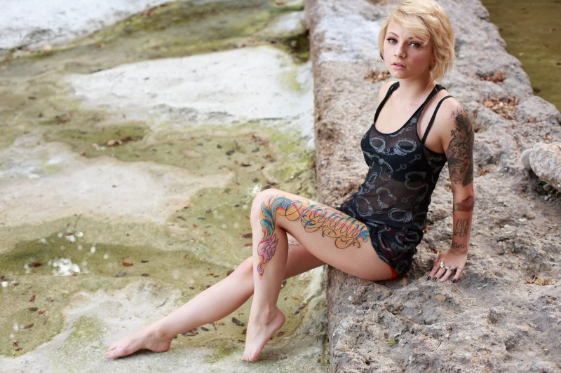 Kirbee – Tattooed blonde blonde fetish kirbee suicide girls tattoo
