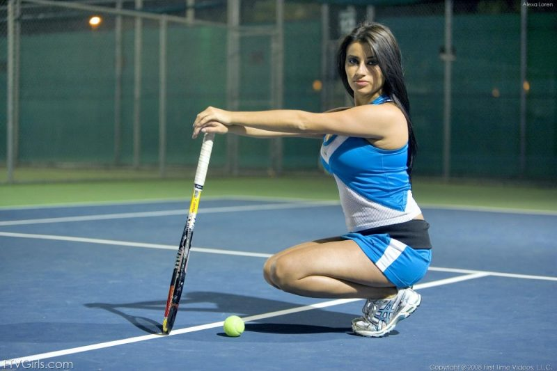 Alexa Loren – Night tennis