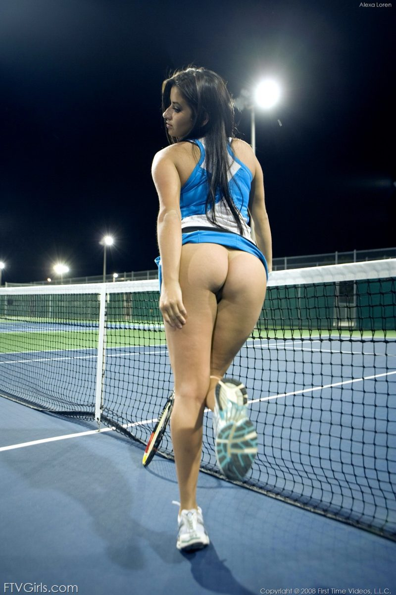 Alexa Loren – Night tennis Alexa Loren big boobs boobs brunette sport tennis tits