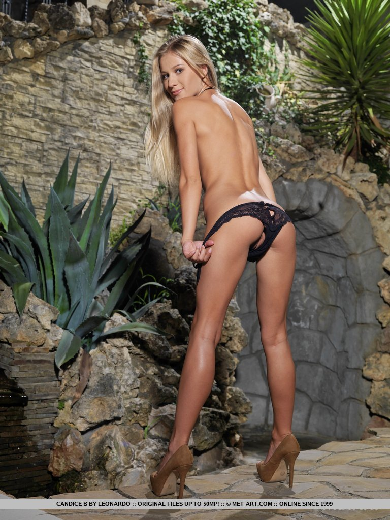 Candice in black panties
