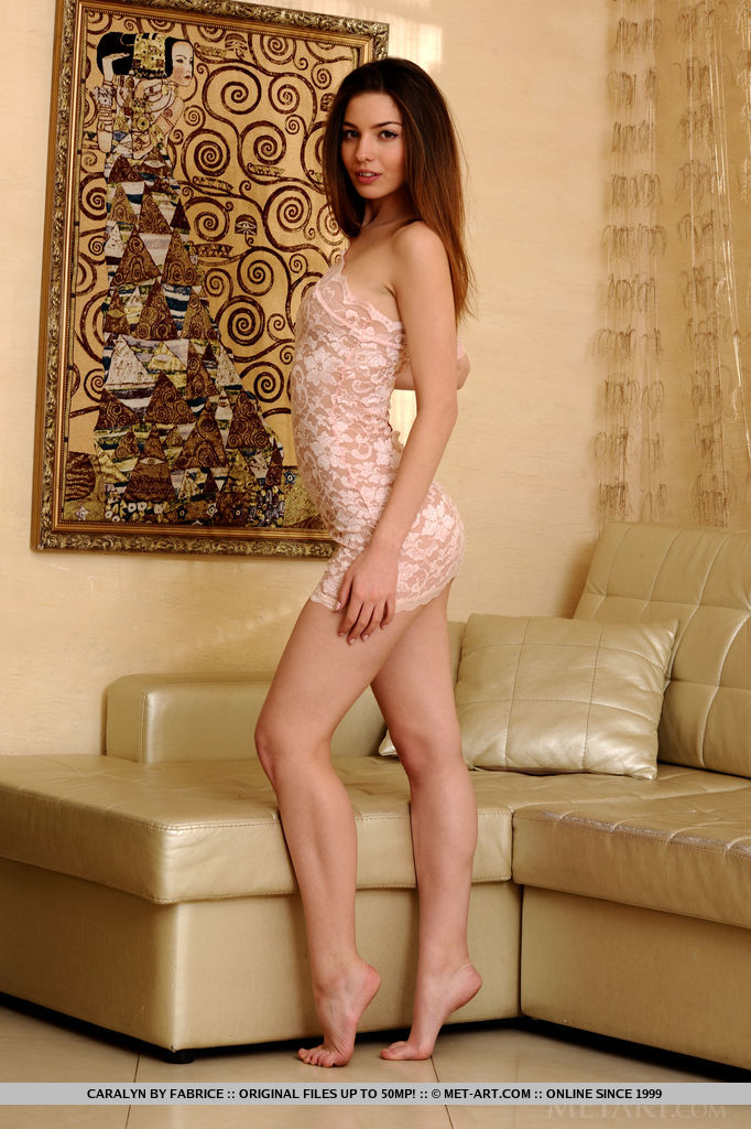 Caralyn in very short dress caralyn couch long hair skinny Young girls
