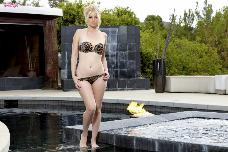 Charlotte Stokely in jacuzzi