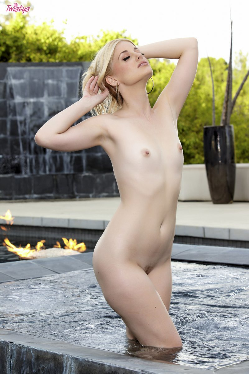 Charlotte Stokely in jacuzzi bikini blonde Charlotte Stokely jacuzzi Pretty Ladies small tits