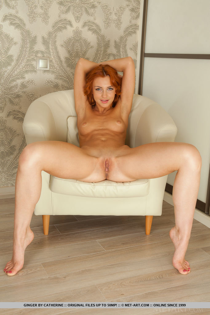 Ginger in the armchair armchair ginger Pretty Ladies redhead