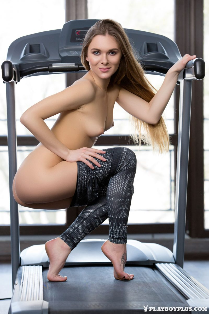 Karissa – Fitness center gym karissa katie a leggings long hair playboy sport Super Chicks