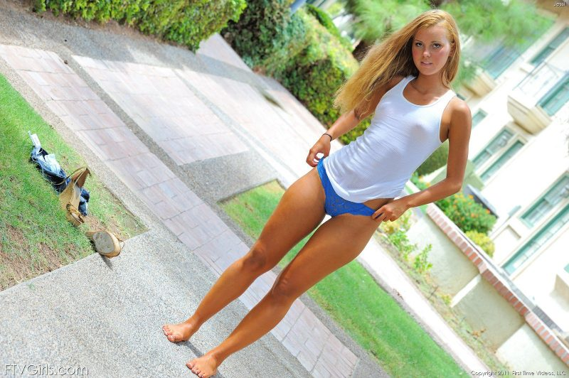 Jessie Rogers nude outdoor ass brazilian jeans shorts Jessie Rogers small tits Young girls